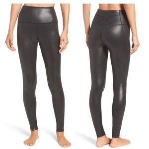 Zella Metallic Shiny Black Leggings